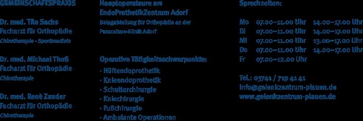Orthopädisches Gelenkzentrum Plauen